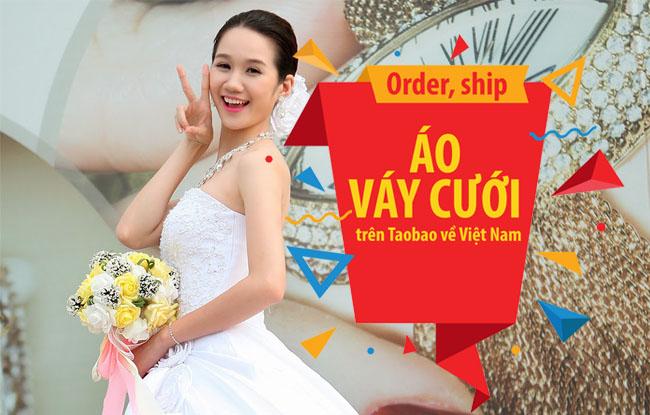 Mách chủ studio ảnh cưới cách order, ship áo váy cưới giá rẻ trên Taobao về Việt Nam