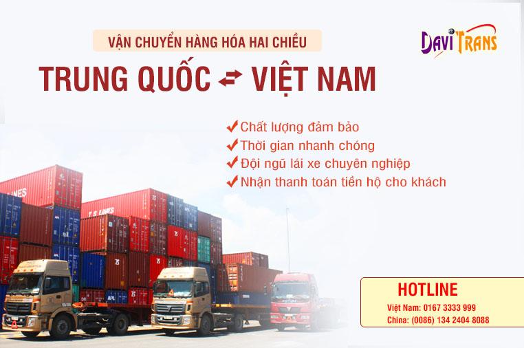 Chuyển hàng Trung Quốc Việt Nam bằng đường bộ từ Davitrans