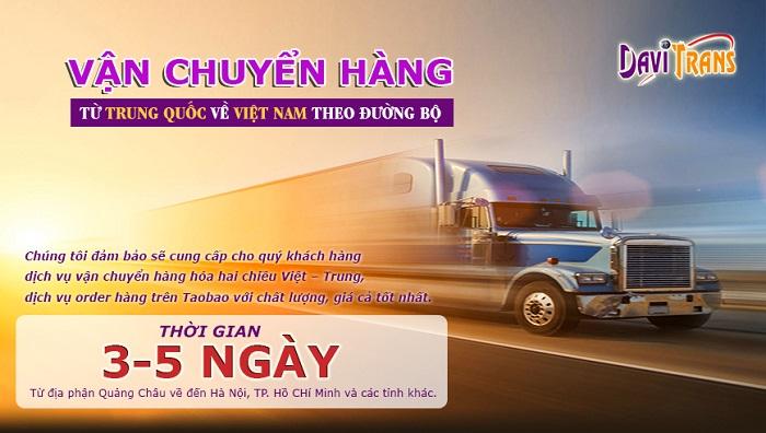 Dịch vụ ship hàng từ Trung Quốc về Việt Nam bằng đường bộ tại Davitrans