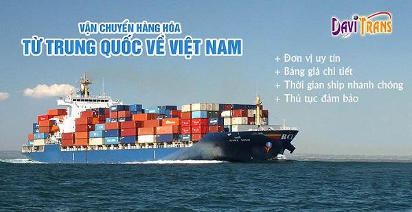Dịch vụ vận chuyển hàng hóa từ Trung Quốc về Thành phố Hồ Chí Minh tại Davitrans
