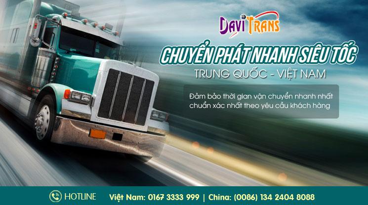 Dịch vụ chuyển phát nhanh siêu tốc Trung Quốc Việt Nam