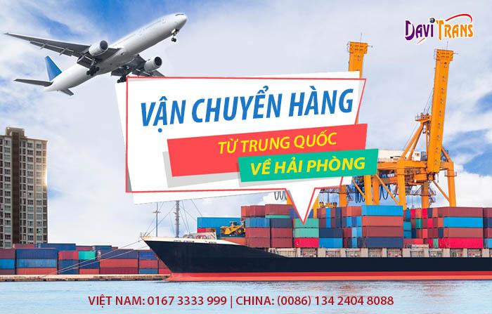 Nhận vận chuyển hàng Trung Quốc về Hải Phòng giá cả cạnh tranh