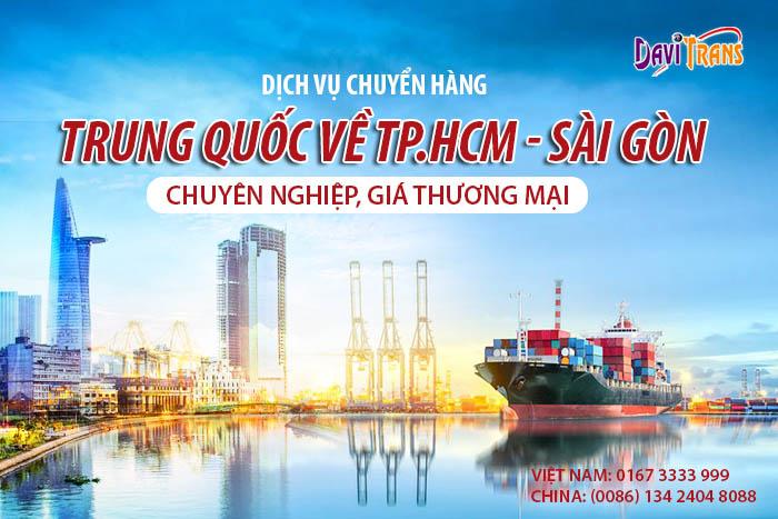 Dịch vụ vận chuyển hàng hóa từ Trung Quốc về Sài Gòn uy tín nhất