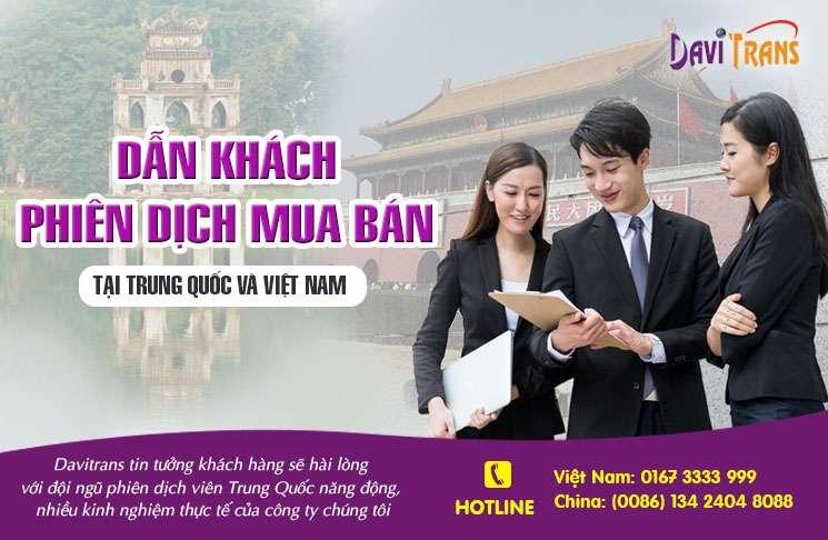 Dẫn khách phiên dịch mua bán tại Trung Quốc và Việt Nam
